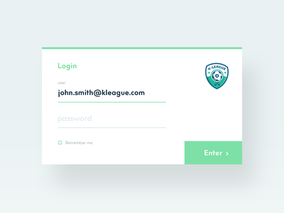 Login Form xbox tournament form login website admin fifa interface clean design app ui