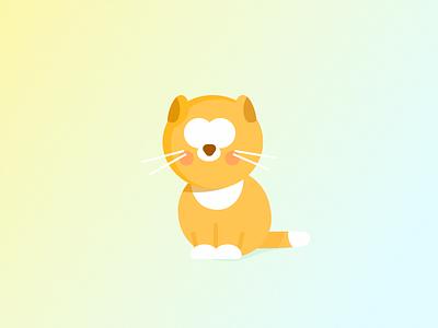 Orange the cat icon artwork artwork orange cat icon design clean vector illustration