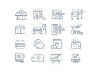 Facilities icons