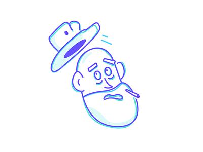 Duel duel cowboy sketch design clean simple vector illustration outline