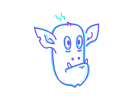 Coffee overdose head cute bat character artwork design clean simple vector outline illustration