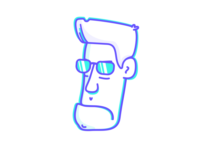Hasta la vista character terminator artwork head simple vector outline illustration design