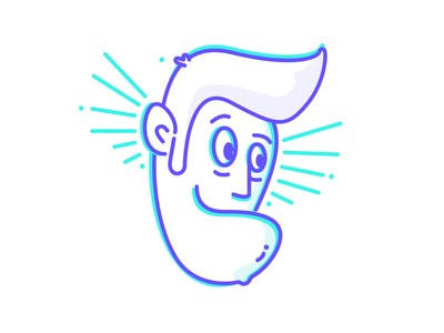 Good vibes only happy head artwork character design clean vector simple illustration outline