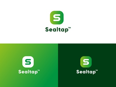 SealTap Logo ashique ukkadan simple geometric art geometric design flat signature secure transfer exchange file exchange file transfer file sharing green s logo symbol geometric clean minimal branding logo