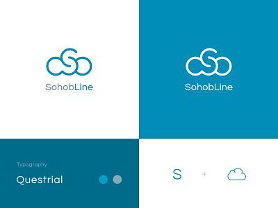 SohoobLine logo best logo logos branding identity design sky blue blue s and cloud cloud mark typography monogram logotype identity flat clean branding minimal ashique ukkadan