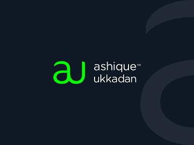 Personal Branding ashique personal brand personal logo logomark simple modern u logo a logo symbol typography monogram logotype identity flat clean minimal branding brand ashique ukkadan