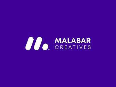 Malabar Creatives Logo logomark logo design best logo icon product logo app logo creative m logo m logos mark symbol logo logotype identity flat clean branding minimal ashique ukkadan