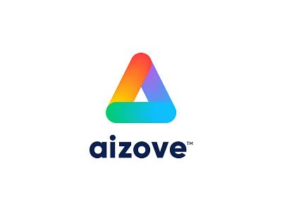 Aizove Logo ashique adobe illustrator colors logo design app logo app multicolor colorful logo logos lettermark symbol design identity flat clean minimal illustration logo branding ashique ukkadan