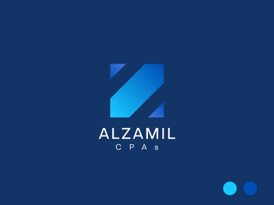 Alzamil Logo ashique ukkadan geometric logo symbol mark finance logo accounting logo accounting cpas logo cpas cpa logo z logo z monogram minimal typography flat illustration logotype identity branding