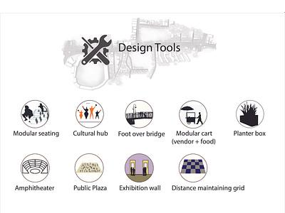 Design tool icons illustraion