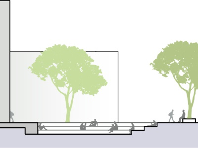 Architectural section section illustration urban design architecture