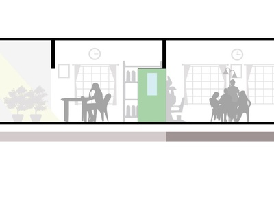 Architectural illustration section residence illustration architecture