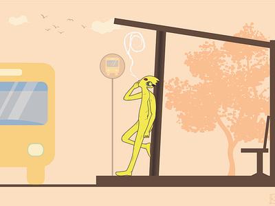 Chill man vector art illustration character design