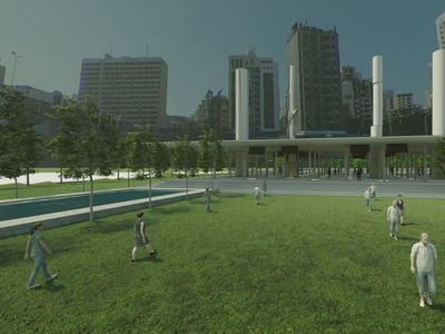 Render image of a memorial render 3d architecture