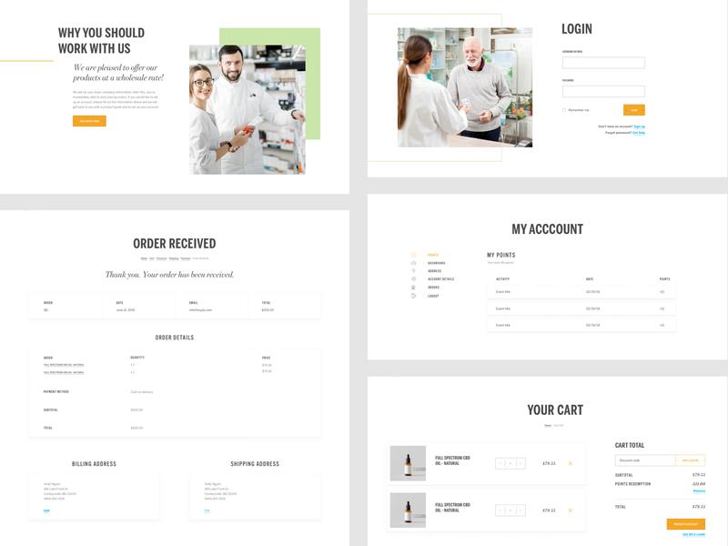 Life Leaf - ecommerce pt. 2 wordpress medical account order shopping cart shopping store login ecommerce design ecommerce