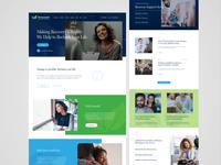 Westmoreland - website redesign pt. 1 help addiction rehab blue and white blue wordpress grid layout hero image desktop design ui design grid design landing page header