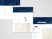 Westmoreland Drug and Alcohol Commission - redesign pt. 2 directory map contact page contact form contact list wordpress blue blue and white desktop design hero image grid design ui design landing page header