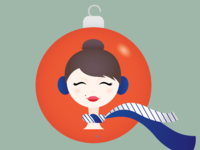 French Twist Holiday Illustration