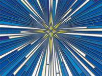 Nativity Star Stained Glass