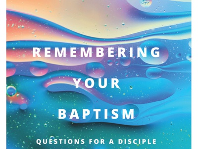 Church Bulletin Cover: Remembering Your Baptism sermon art sermon series bulletin cover christian design cover art christian
