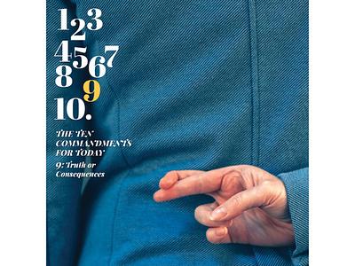 Bulletin Cover: The Ten Commandments typogaphy cover design cover christian christian design