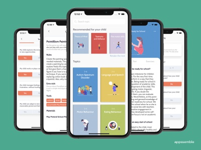 parenthing - parenting made easy. education app ux ui mobile design ios app android