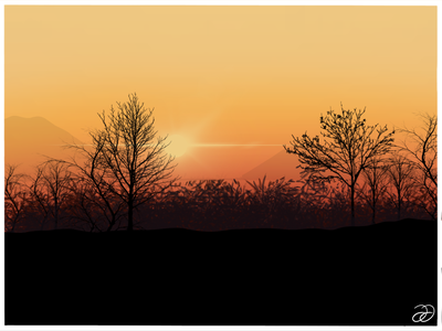 Living for sunsets procreateapp procreate art ui silhouettes hues sunsets landscapes landscape illustration landscape design illustration graphic design apple pencil digital illustrations