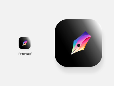 Procreate App Icon Redesign getcreativewithprocreate procreate redesign redesign concept ux ui branding design logo procreate art