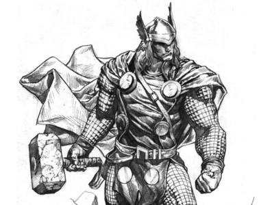 Thor Pencil Sketch