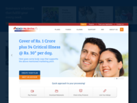Landing Page for Life insurance company
