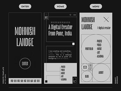 #002 WEBSITE TEMPLATE webgl freebie typography three.js branding portfolio minimal illustration graphic design design