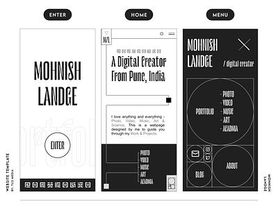 #002 WEBSITE TEMPLATE ui freebie webgl typography three.js portfolio minimal illustration graphic design design