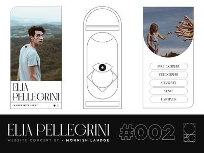 Modern Minimal Website Concept | Available for Purchase branding three.js webgl freebie typography minimal portfolio illustration graphic design design