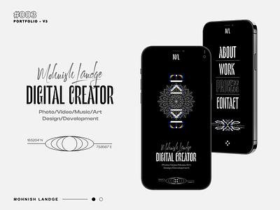 NEW PORTFOLIO REDESIGN branding freebie three.js webgl typography portfolio minimal illustration graphic design design