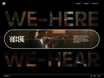We Here - We Hear #002 ui branding logo webgl typography portfolio minimal illustration graphic design design