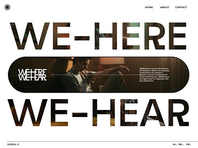 We Here - We Hear #003 ui branding logo webgl typography portfolio minimal illustration graphic design design