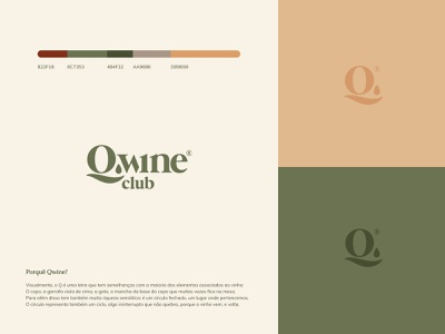 Qwine Club Logo Design wine identity wine box club wine membership branding logo membership logo colors logo icon subscription icon wine logo design concept logo design branding subscription subscription box logo subscription logo wine logo wine club logo q logo design