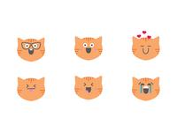 Orange Kitty Kat Emojis