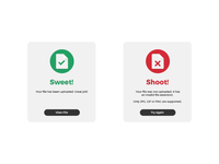 Daily UI Challenge | Day Eleven | Flash Message (Error/Success)