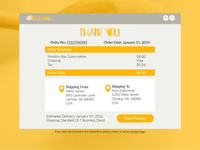 Daily UI Challenge | Day Seventeen | Email Receipt