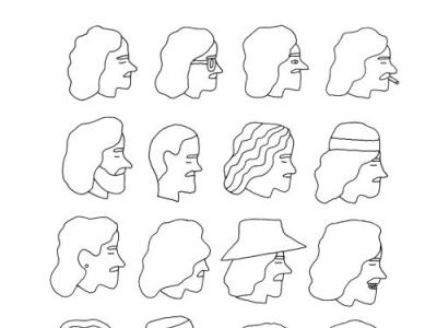 faces illustration logo