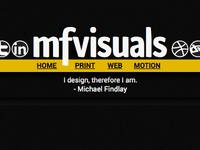 mfvisuals 2014 website concept