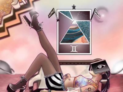 She is Gemini zodiac astrology illustrator illustrations illustration art illustration design clothing design characters characterdesign