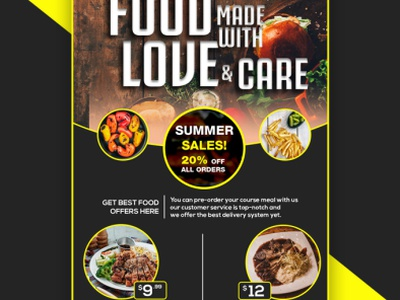 F O  3 flyer design food