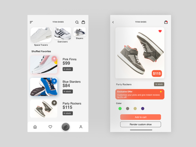 Shoe Shopping App illustration ui ux vector 2021 shoes store shoes logo shoes app uiuxdesigner branding uiuxdesign uiux