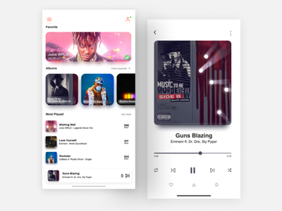 Simple Music Player App music music player ui music app music player app design ux ui uiuxdesign uiux
