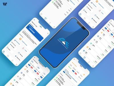 DAE UI MOCKUP crypto appcenter service blue color bitcoin cryptocurrency uiuxdesign uiux