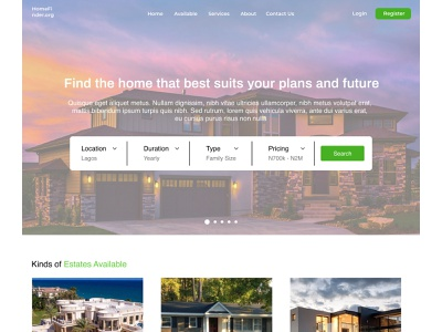 Find Apartment ux uiuxdesign uiuxdesigner uiux homepage ui estate accommodations accommodation home findplace housing