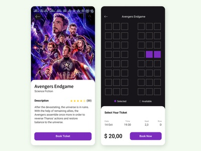 Movie Ticket App interaction design movieticket ux user experience ui uiux interface app