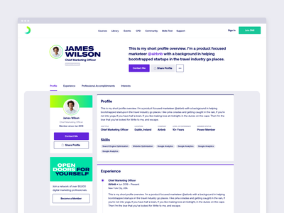 Public profile, onboarding and settings ui ux settings profile editor profile cv product design